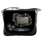 Love Life Black White Messenger Bag