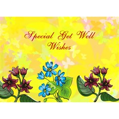 Butterfly Get Well By Kim Blair   Get Well 3d Greeting Card (7x5)   Aakhtjxmblj6   Www Artscow Com Front
