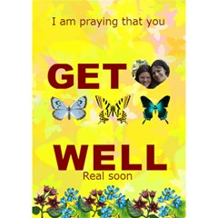 Butterfly Get Well By Kim Blair   Get Well 3d Greeting Card (7x5)   Aakhtjxmblj6   Www Artscow Com Inside