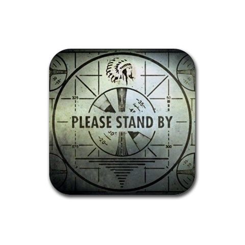 Please Stand By Coaster By Casualtv   Rubber Coaster (square)   9ruayjb738a8   Www Artscow Com Front