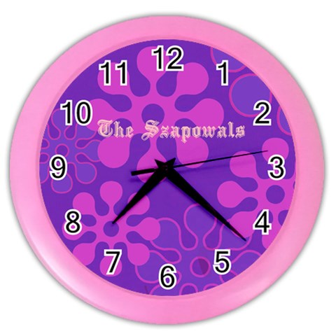 Purple Contemporary Clock By Kim Blair   Color Wall Clock   Giw00z35w2l4   Www Artscow Com Front