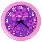 purple contemporary clock - Color Wall Clock