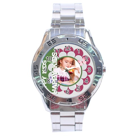 Happy Kids By Joely   Stainless Steel Analogue Watch   X3gjb8prwiuu   Www Artscow Com Front