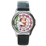 happy kids - Round Metal Watch