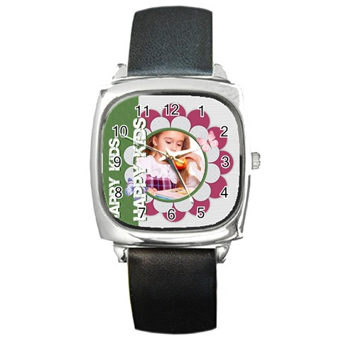Happy Kids By Joely   Square Metal Watch   Ujwljznzyne4   Www Artscow Com Front