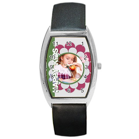 Happy Kids By Joely   Barrel Style Metal Watch   H1m5m3leqwg4   Www Artscow Com Front
