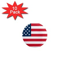 Flag 10 Pack Mini Magnet (Round) by tammystotesandtreasures