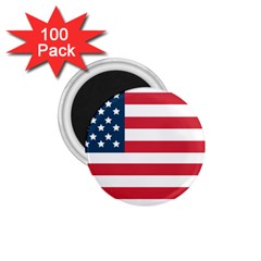 Flag 100 Pack Small Magnet (Round) by tammystotesandtreasures