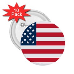 Flag 10 Pack Regular Button (round) by tammystotesandtreasures