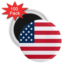 Flag 100 Pack Regular Magnet (Round) by tammystotesandtreasures