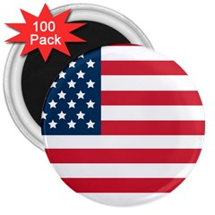 Flag 100 Pack Large Magnet (Round) by tammystotesandtreasures