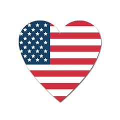 Flag Large Sticker Magnet (heart) by tammystotesandtreasures