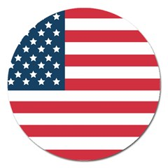 Flag Extra Large Sticker Magnet (round) by tammystotesandtreasures
