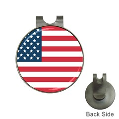 Flag Hat Clip with Golf Ball Marker