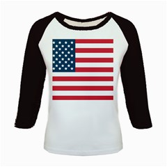 Flag Long Sleeve Raglan Womens'' T-shirt by tammystotesandtreasures