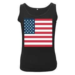 Flag Black Womens'' Tank Top by tammystotesandtreasures