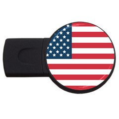 Flag 4Gb USB Flash Drive (Round) by tammystotesandtreasures