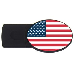 Flag 4Gb USB Flash Drive (Oval) by tammystotesandtreasures
