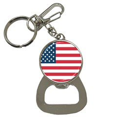 Flag Key Chain With Bottle Opener by tammystotesandtreasures