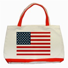 Flag Red Tote Bag by tammystotesandtreasures