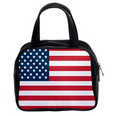Flag Twin Sided Satched Handbag by tammystotesandtreasures
