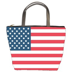 Flag Bucket Handbag by tammystotesandtreasures