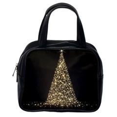 Christmas Tree Sparkle Jpg Single Sided Satchel Handbag by tammystotesandtreasures