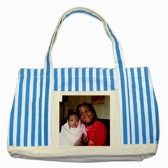 Bags Striped Blue Tote Bag by infoselonetA