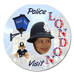 London Police visit  - Magnet 5  (Round)