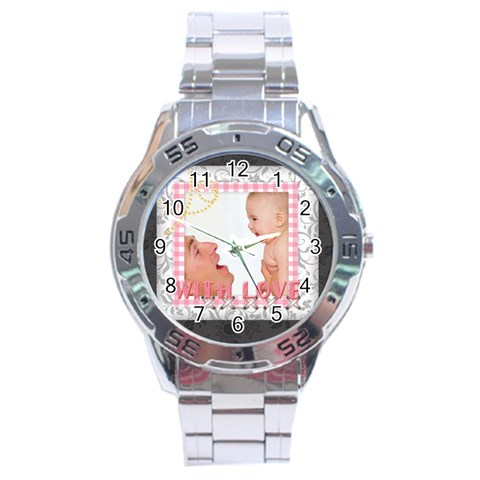 With Love By Joely   Stainless Steel Analogue Watch   Q0hv50q9og67   Www Artscow Com Front