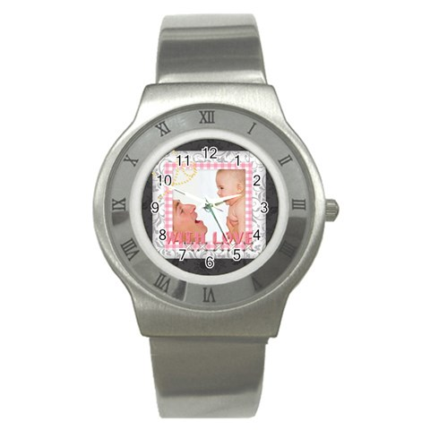 With Love By Joely   Stainless Steel Watch   A4hp48bnn9pu   Www Artscow Com Front
