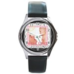with love - Round Metal Watch