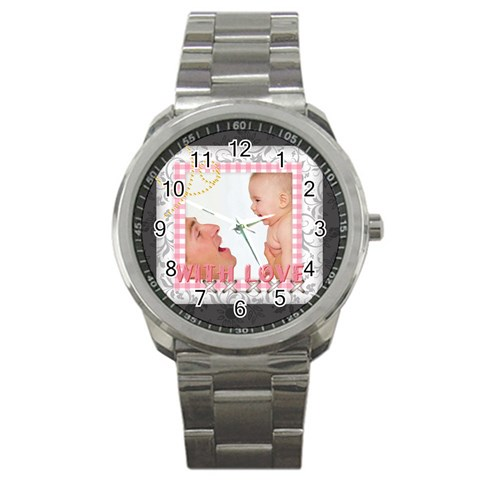 With Love By Joely   Sport Metal Watch   Ql1to4sh8ies   Www Artscow Com Front