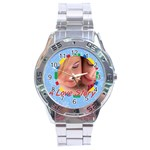 a love story - Stainless Steel Analogue Men's Watch