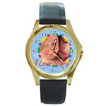 a love story - Round Gold Metal Watch