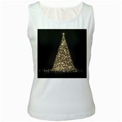 Christmas Tree Sparkle Jpg White Womens  Tank Top