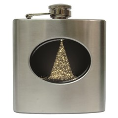 Christmas Tree Sparkle Jpg Hip Flask