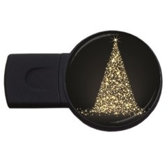 Christmas Tree Sparkle Jpg 2gb Usb Flash Drive (round) by tammystotesandtreasures