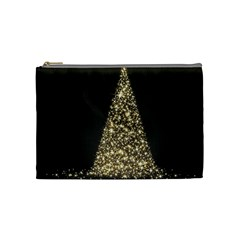 Christmas Tree Sparkle Jpg Medium Makeup Purse by tammystotesandtreasures