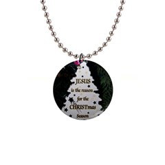 Jesus Is The Reason Mini Button Necklace by tammystotesandtreasures