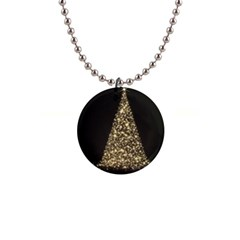 Christmas Tree Sparkle Jpg Mini Button Necklace