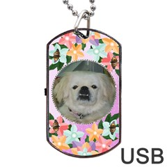 Pink And Purple Dog Tag Flash (two Sides) By Kim Blair   Dog Tag Usb Flash (two Sides)   4b7smxqskkrf   Www Artscow Com Back