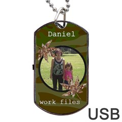 Camoflauge Dog Tag Usb Flash (2 Sides) By Kim Blair   Dog Tag Usb Flash (two Sides)   Qggopbs9i0wb   Www Artscow Com Front