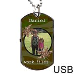 Camoflauge Dog Tag Usb Flash (2 sides) - Dog Tag USB Flash (Two Sides)