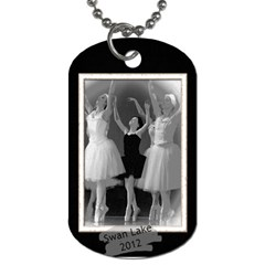 Emma Swan Lake Black Edges  By Elise Hubka   Dog Tag (two Sides)   1kduyp74we4h   Www Artscow Com Back
