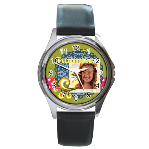 Summer By Joely   Round Metal Watch   Wx8l2v3tyh8i   Www Artscow Com Front