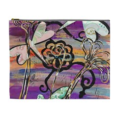 Dragonflies 3 Cosmetic Bag (XL) by KewzooArt