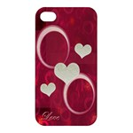 Pink love Apple iPhone4/45 case - Apple iPhone 4/4S Hardshell Case