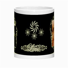 Black white frill Night Luminous Mug by Ellan Center