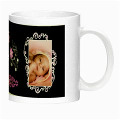 Baby girl frill Night Luminous Mug by Ellan Right